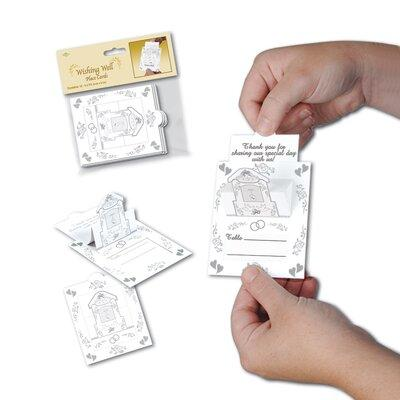 Beistle Wishing Well Place Card (Set of 12) 54490