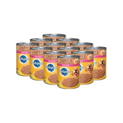 Pedigree Chopped Ground Dinner With Beef Canned Dog Food,...