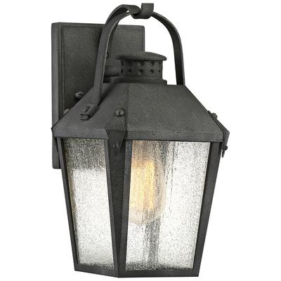"""Quoizel Carriage 11 1/2""""H Mottled Black Outdoor Wall Light"""