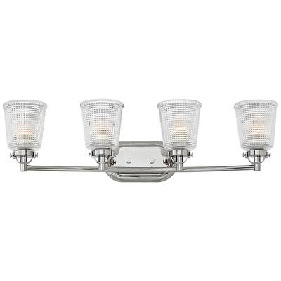 "Hinkley Bennett 31 3/4""W Polished Nickel 4-Light Bath Light"