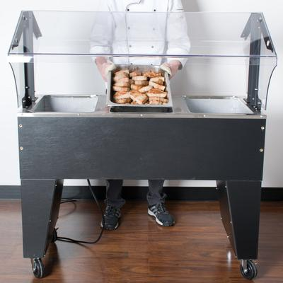 Advance Tabco B3-120-B Three Pan Everyday Buffet Hot Food...