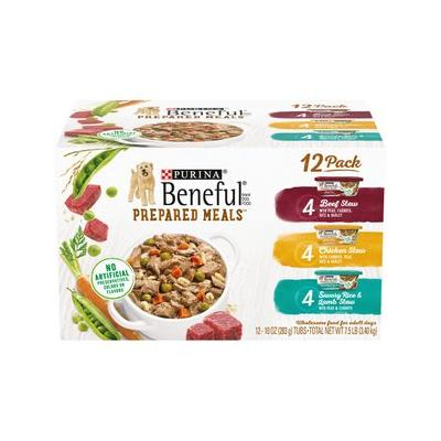 Purina Beneful Prepared Meals Variety Pack Wet Dog Food, ...