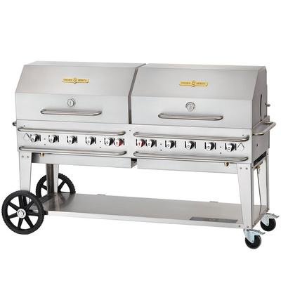 """Crown Verity RCB-72RDP Liquid Propane 72"""" Pro Series Outdoor Rental Grill with Roll Dome Package"""