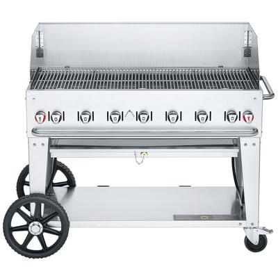 "Crown Verity CVMCB48WGPNG 48"" Natural Gas Mobile Grill with 99000 BTU Capacity Wind Guard Two 14"""