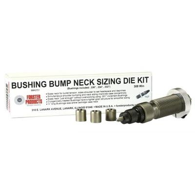 Forster Bushing Bump Neck Sizing Die and Three Neck Bushi...
