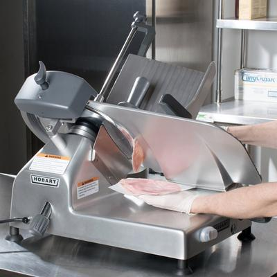 "Hobart EDGE-13 13"" Manual Meat Slicer - 1/2 hp"