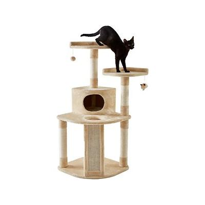 Frisco 48-in Cat Tree, Large Base, Cream