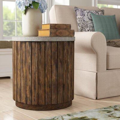 Loon Peak Florentine Wooden Drum End Table LNPK3595