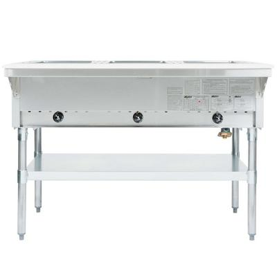 Eagle Group HT3 Natural Gas Steam Table Three Pan 10,500 ...