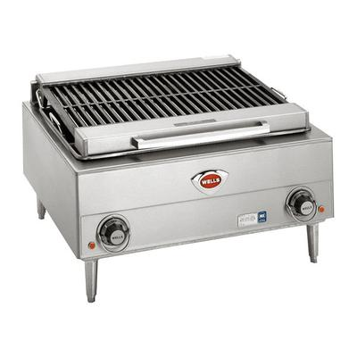 "Wells B-40 24"" Stainless Steel Electric Charbroiler with ..."