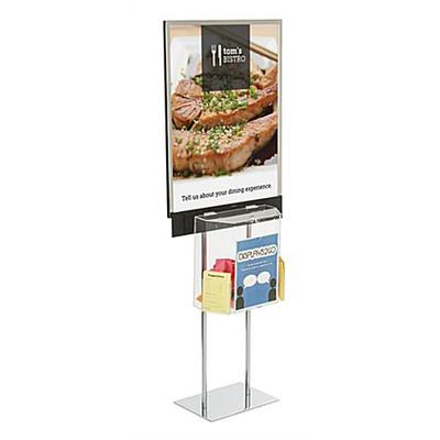 Displays2go Floor Standing Poster with Ballot Box and Squ...