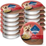 Blue Buffalo Divine Delights Prime Rib Flavor Hearty Gravy Dog Food Trays, 3.5-oz, case of 12 | White Wine Red