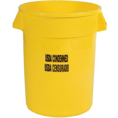 "Rubbermaid FG263246YEL Brute 32 Gallon Yellow ""USDA Conde..."