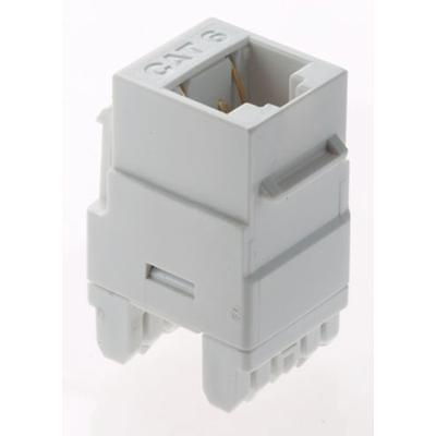 OnQ RJ45 Keystone Connector Category 6 White