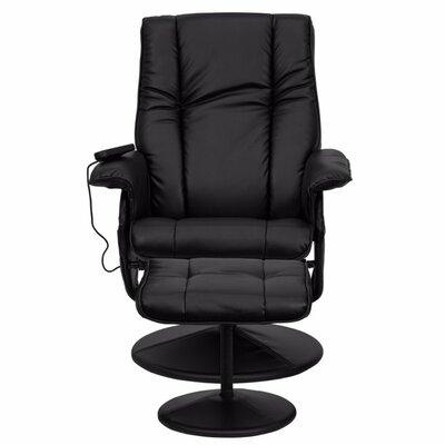 Red Barrel Studio Leather Heated Reclining Massage Chair with Ottoman Enjoy a relaxing massage in the comfort of your own home or office with this recliner and ottoman set. This set offers maximum massaging power that massages your back, lumbar area,...
