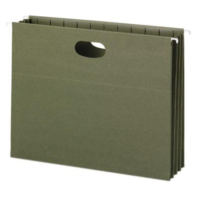"Smead 64226 8 1/2"" x 11"" Green Recycled Hanging Pocket wi..."