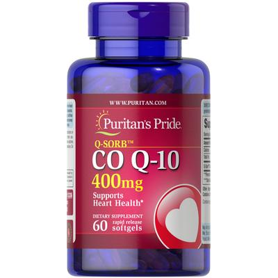 Puritan's Pride Q-SORB CO Q-10 400 mg-60 Rapid Release Softgels