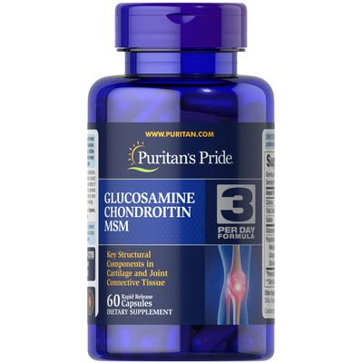 Puritan's Pride Double Strength Glucosamine, Chondroitin & MSM Joint Soother-60 Capsules