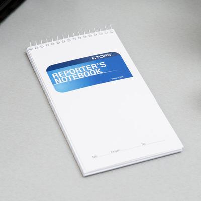 """Tops 8030 4"""" x 8"""" Wide Ruled White Wirebound Reporter's N..."""