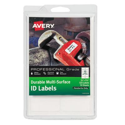"Avery 61521 3/4"" x 1 3/4"" White Multi-Surface ID Labels -..."