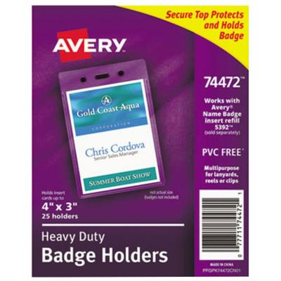 "Avery 74472 4"" x 3"" Clear Vertical Secure Top Heavy-Duty ..."