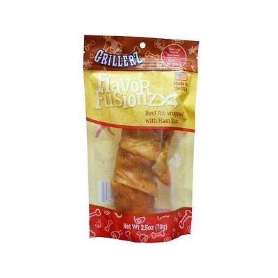 Grillerz Flavor Fusionz Beef Rib with Ham Skin Dog Treat, 2.5-oz bag