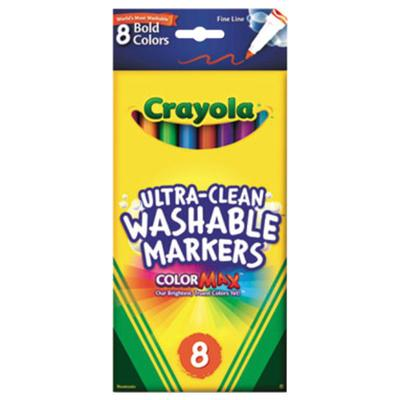 Crayola 587836 Ultra-Clean Assorted 8 Bold Color Fine Poi...