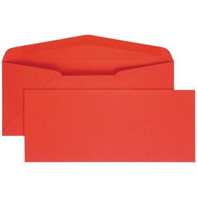 "Quality Park 11134 #10 4 1/8"" x 9 1/2"" Red Gummed Seal Bu..."