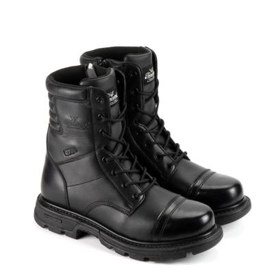 Thorogood Men's 8 inch Side-Zip Jump Boots, 8.5d, Black