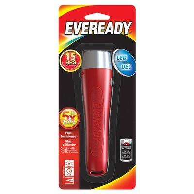 Eveready 12406 - Red & Silver General Purpose LED Flashli...