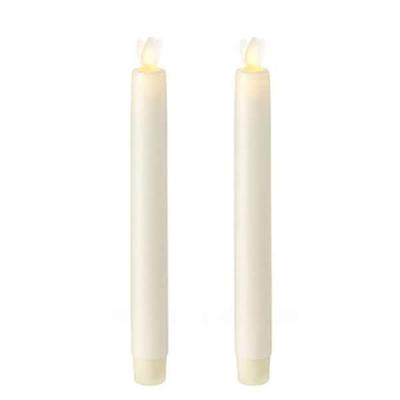 "Liown 16234 - 8"" Ivory Wax LED Taper Candles with Timer (..."