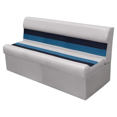 Wise Sports Equipment Pontoon Bench Seat 55in Gray-Navy-E...