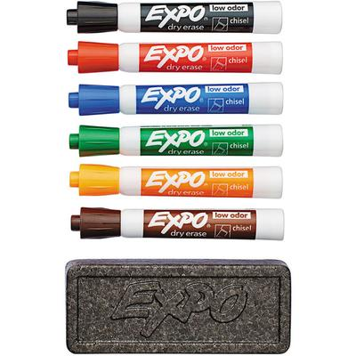 Expo 80556 Assorted 6-Color Chisel Tip Dry Erase Marker a...