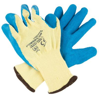 Power-Cor Yellow Kevlar Cut Resistant Gloves with Blue La...