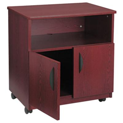 Safco 1850MH Mahogany Laminate Machine Stand with 2-Door ...
