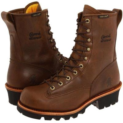 "6"" Apache Steel Toe Lace Up - Brown - Chippewa Boots"