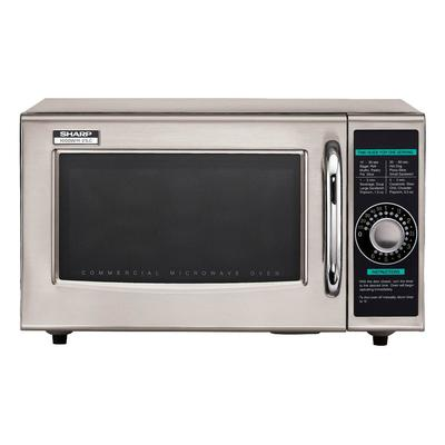Sharp R-21LCFS 1000w Commercial Microwave w/ Dial Control...