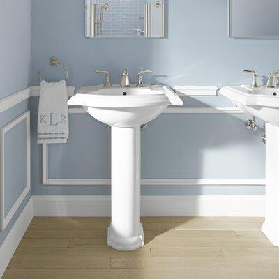 "Kohler Devonshire Ceramic 25"" Pedestal Bathroom Sink with..."