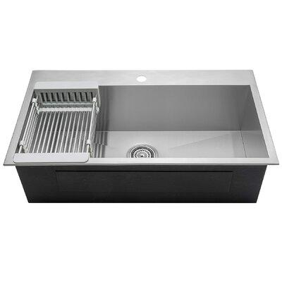 "AKDY 33"" x 22"" Drop-In Top Mount Stainless Steel Single B..."