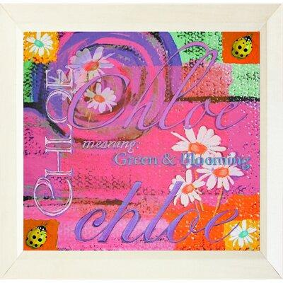 Buy Art For Less 'Chloe Meaning Green and Blooming Ladybu...