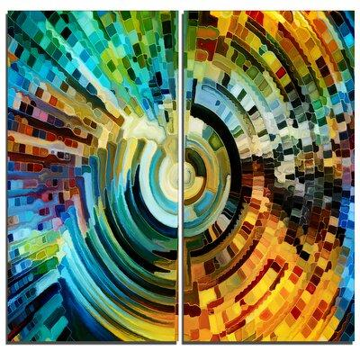 DesignArt Paths of Stained Glass Abstract 2 Piece Graphic...