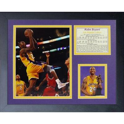 Legends Never Die Kobe Bryant Gold Jersey Framed Memorabi...