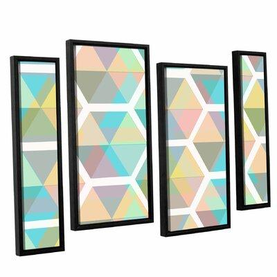 George Oliver Hive 4 Piece Framed Graphic Art on Canvas S...