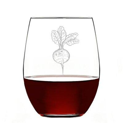 Gracie Oaks Toolsie Beets Glass 21 oz. All Purpose Stemless GRKS8110