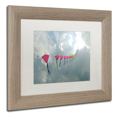 "Trademark Art ""Kites to Heaven"" by Kurt Shaffer Framed Ph..."