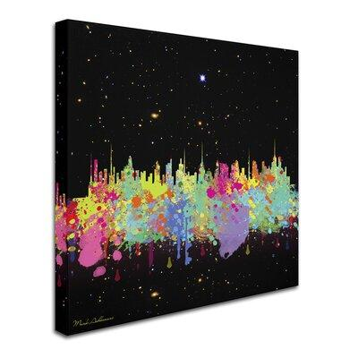 Trademark Art 'Abstract C T' Graphic Art Print on Wrapped...