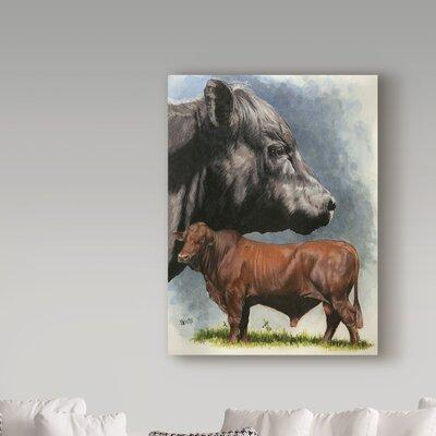 Trademark Art 'Angus Cattle' Oil Painting Print on Wrappe...
