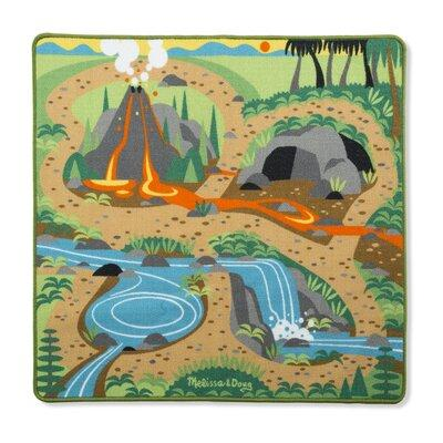 Melissa and Doug Prehistoric Playground Dinosaur 5 Piece Floor Mat Set 9427
