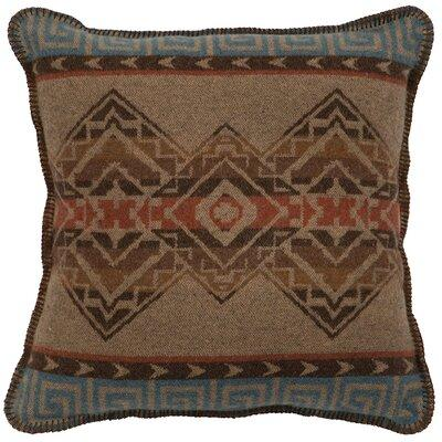Loon Peak Raymond Throw Pillow Southwest type stripe pattern with browns, rust, and a hint of turquoise. Soft, washable wool blend fabric, with polyfoam insert.Features: 40% Acrylic, 30% Polyester, 25% New Wool and 5% Other Machine washable- cold...