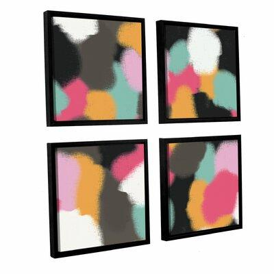 Mercer41 Abstract 400 4 Piece Framed Graphic Art on Canva...
